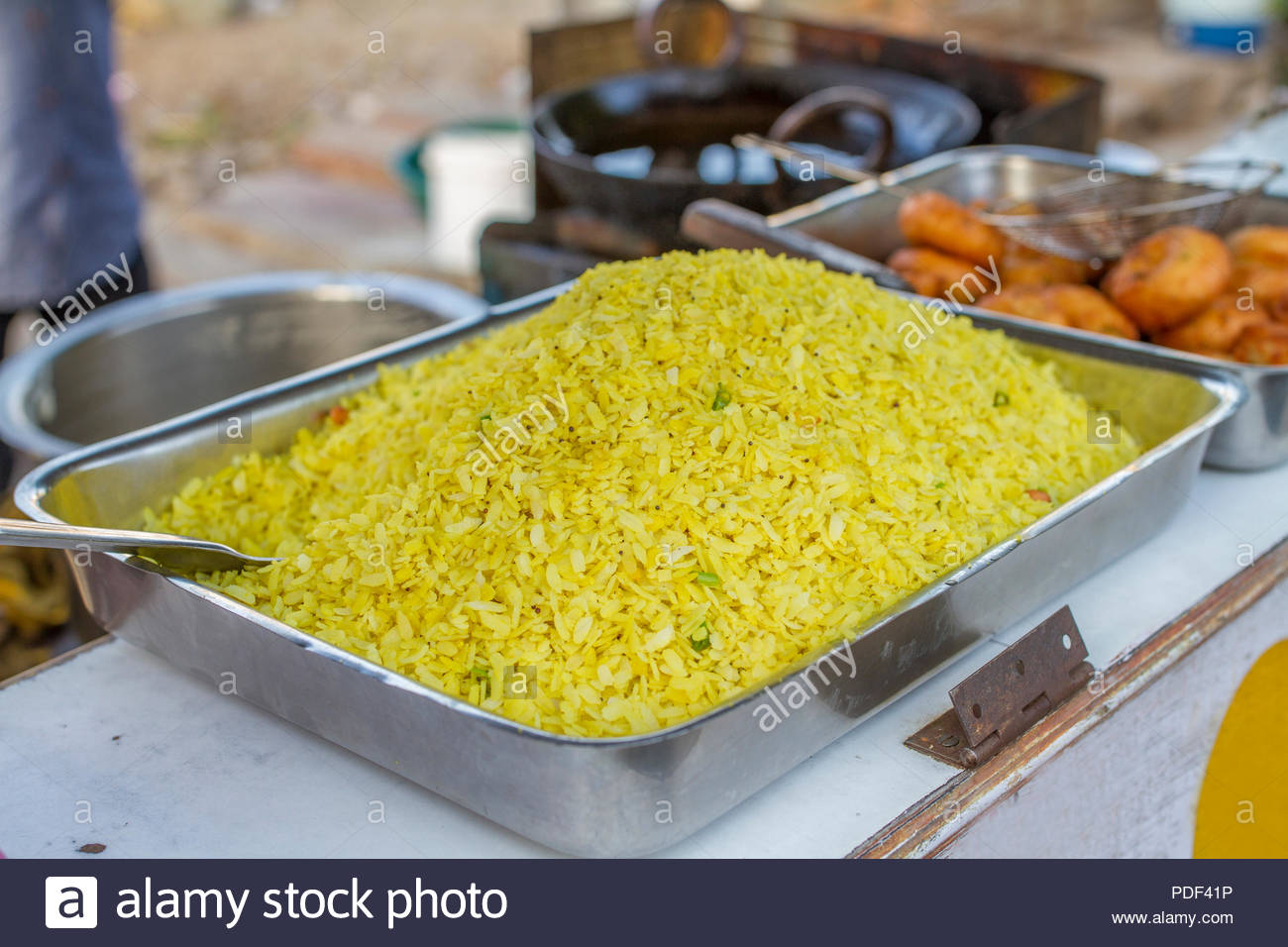 Indian Traditional Street Food Poha Stock Photo 214847410