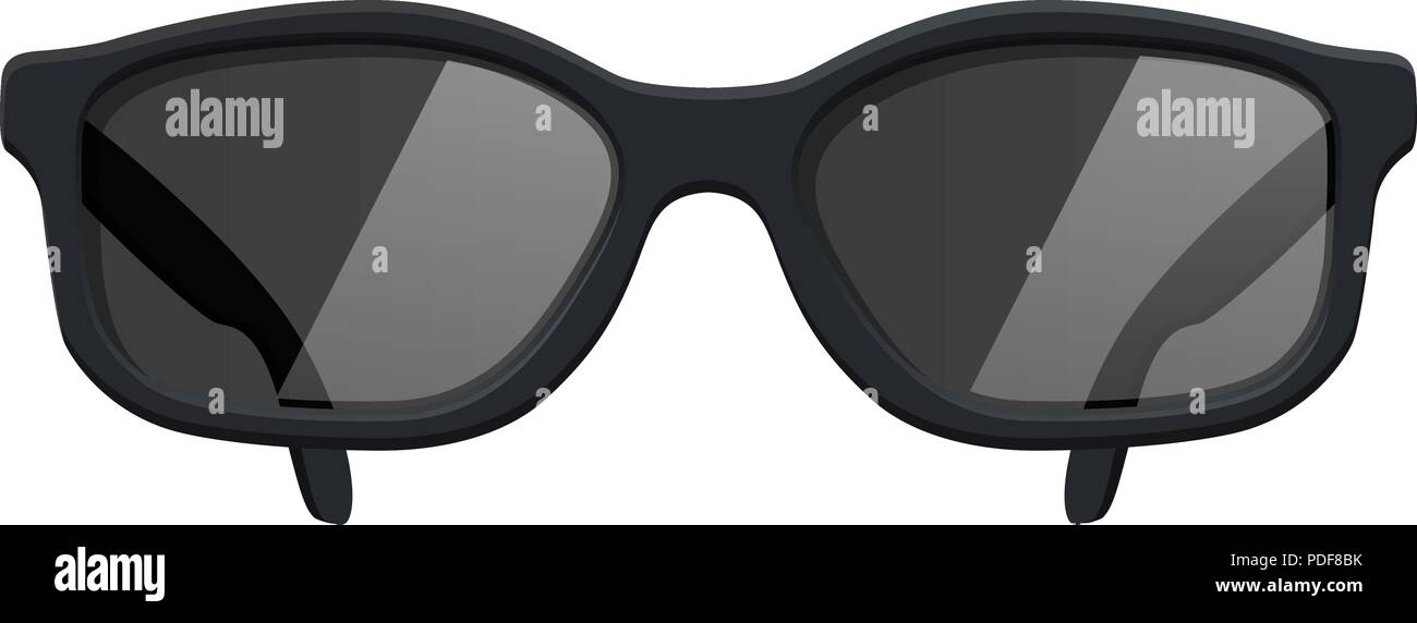 Sunglasses. Front view - Stock Image