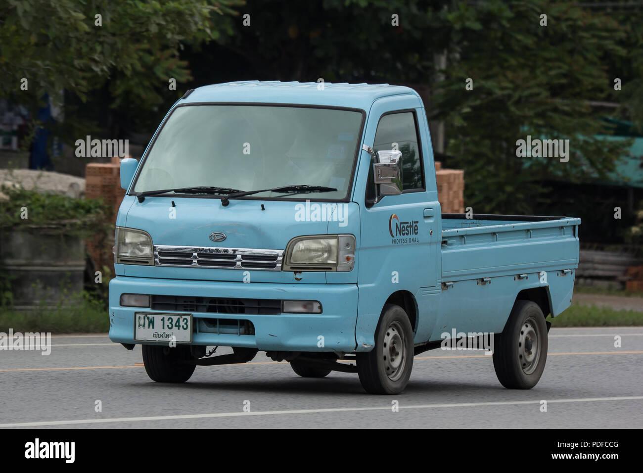 Chiangmai Thailand July 24 2018 Private Daihatsu Old Van Car