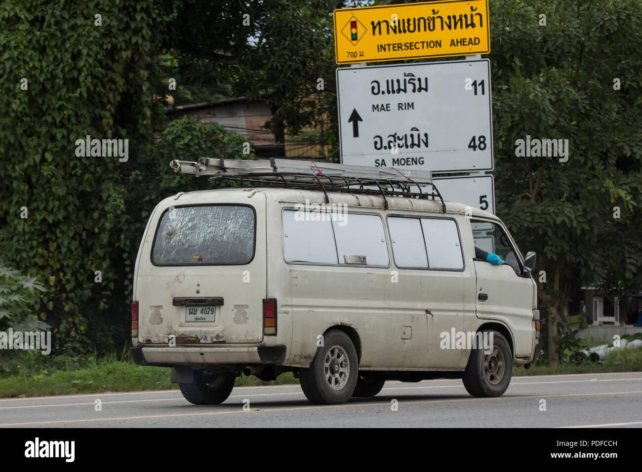 Chiangmai, Thailand - July 24 2018: Private old isuzu ELF van  Photo