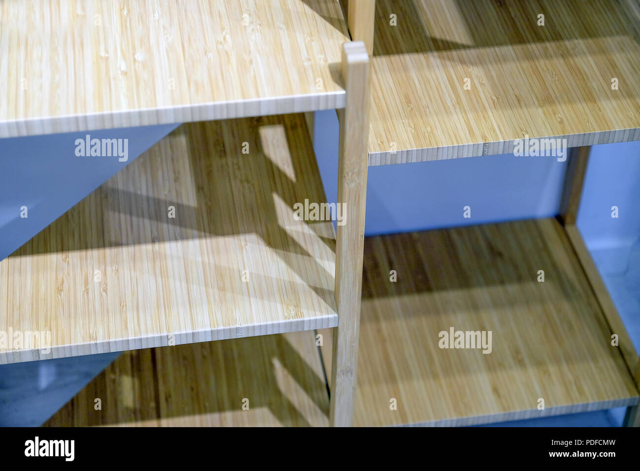 Bamboo drawer surface  Texture Wooden Background  Box with