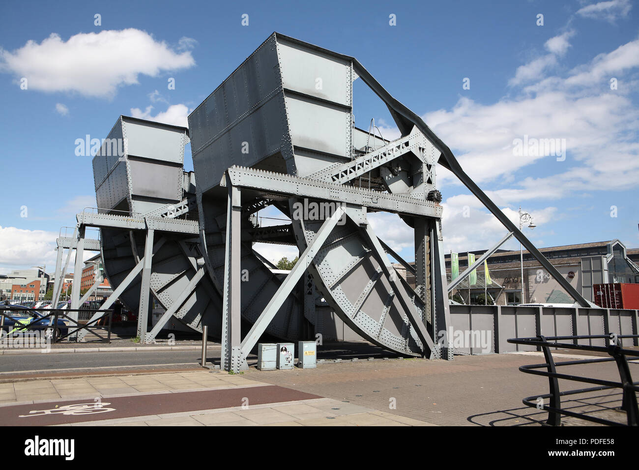 Scherzer rolling lift bridge - Stock Image