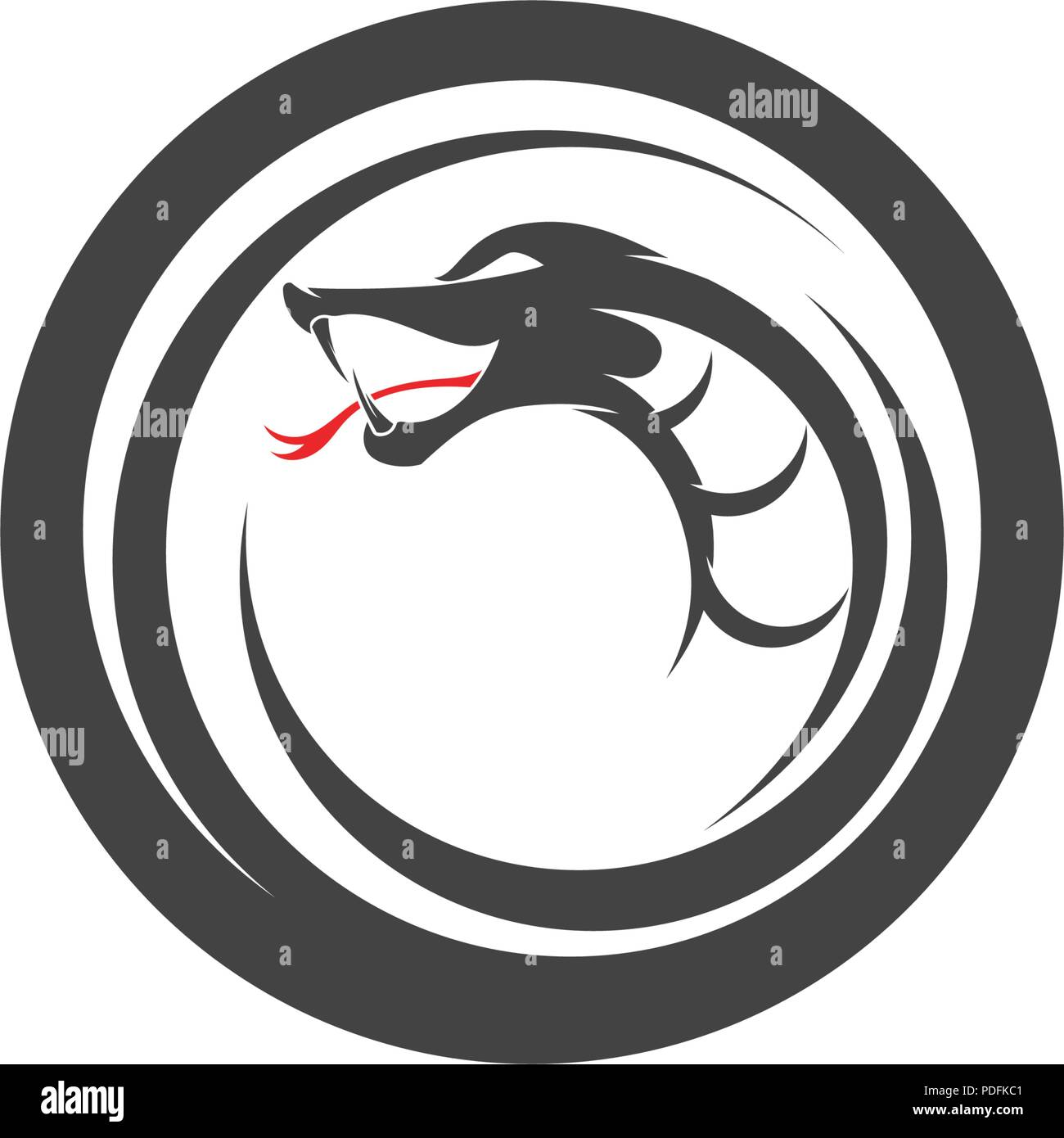 vector snake simple logo design element danger snake icon viper