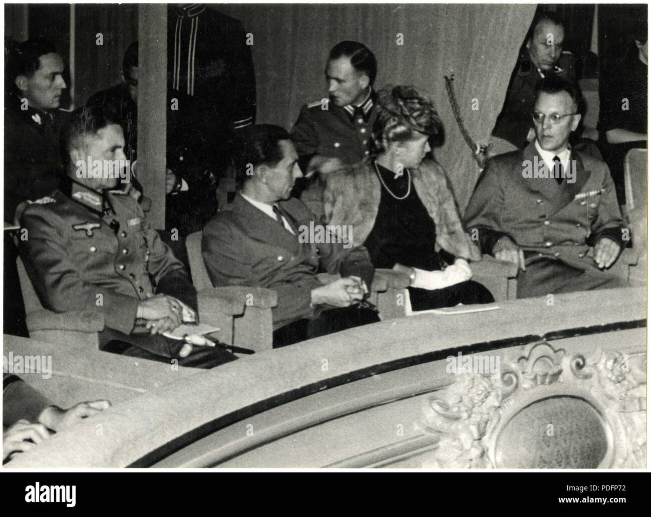 173 Joseph Goebbels, Arthur Seyß-Inquart, Georg-Hans Reinhardt in The Hague, 1942 Stock Photo