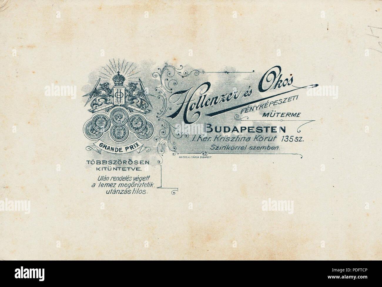 186 Krisztina körút 135., Hollenzer és Okos fényképészeti műterme. Fortepan 81168 - Stock Image
