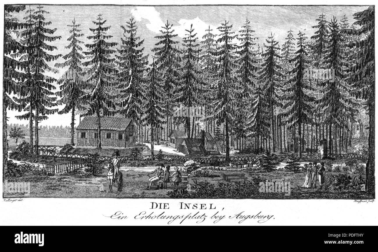 187 Kupferstich Die Insel - Stock Image