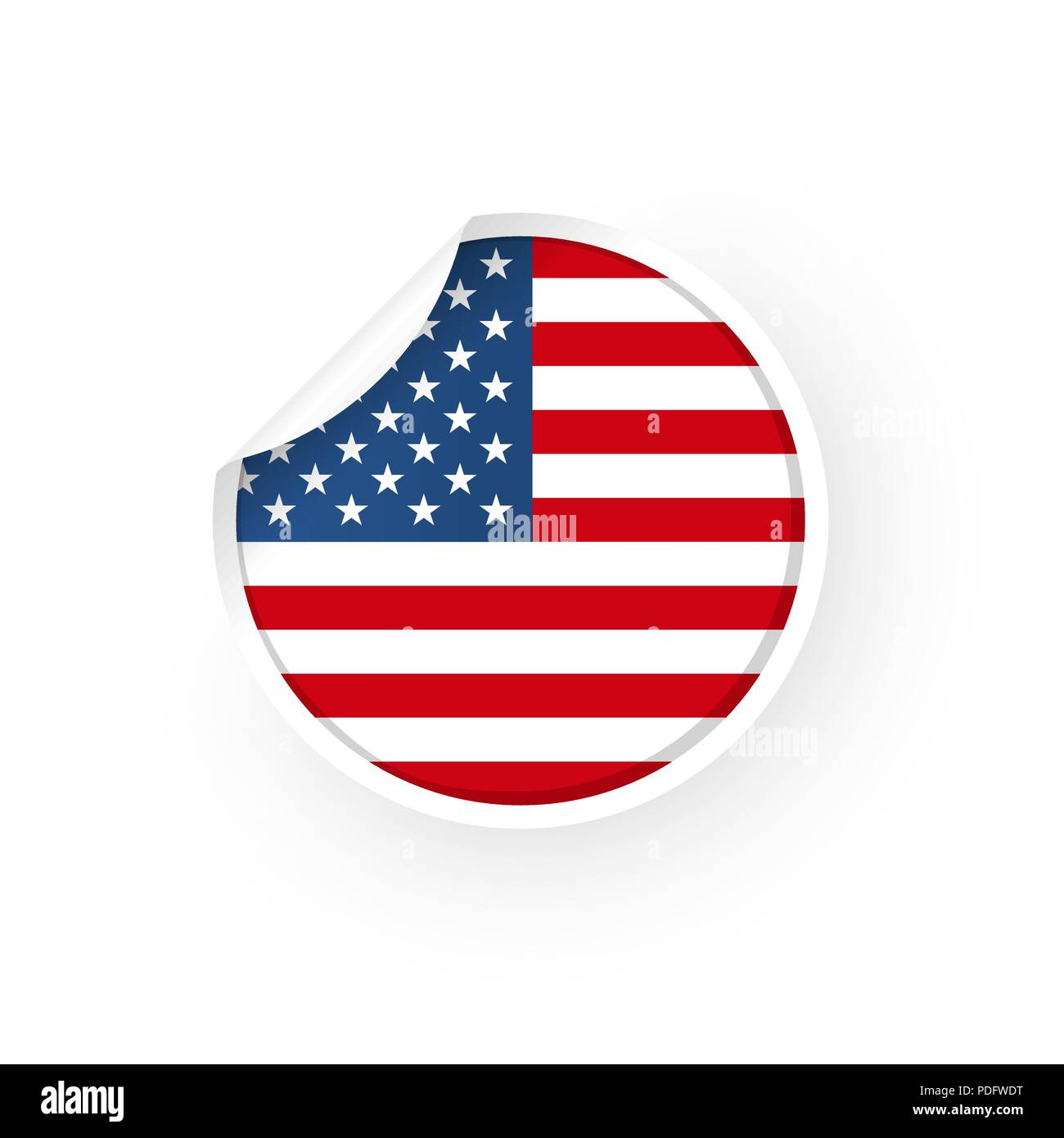 a418dc4c393 USA icon sticker Stock Vector Art   Illustration