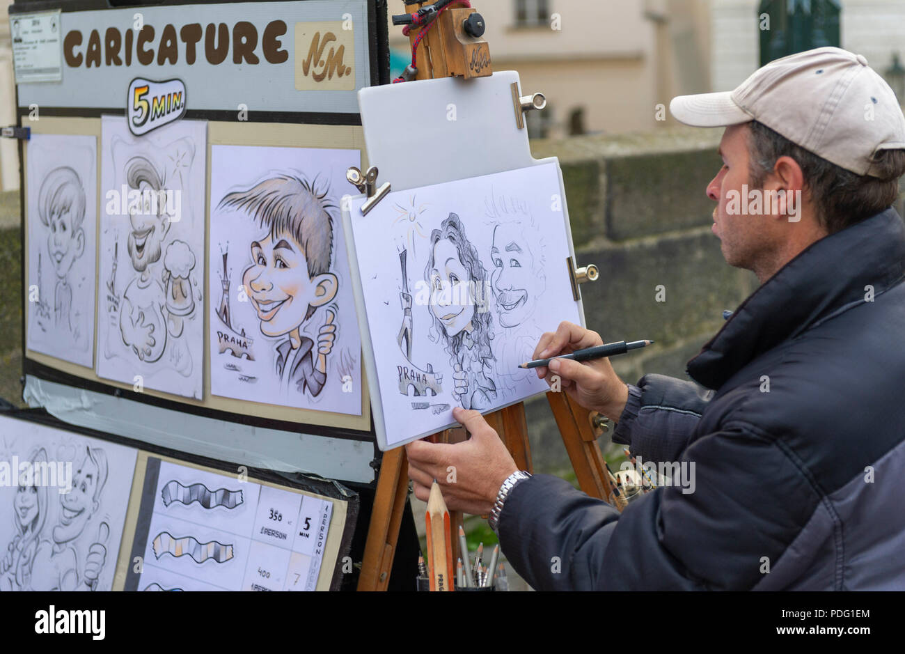 Street Caricature Artist High Resolution Stock Photography And Images Alamy