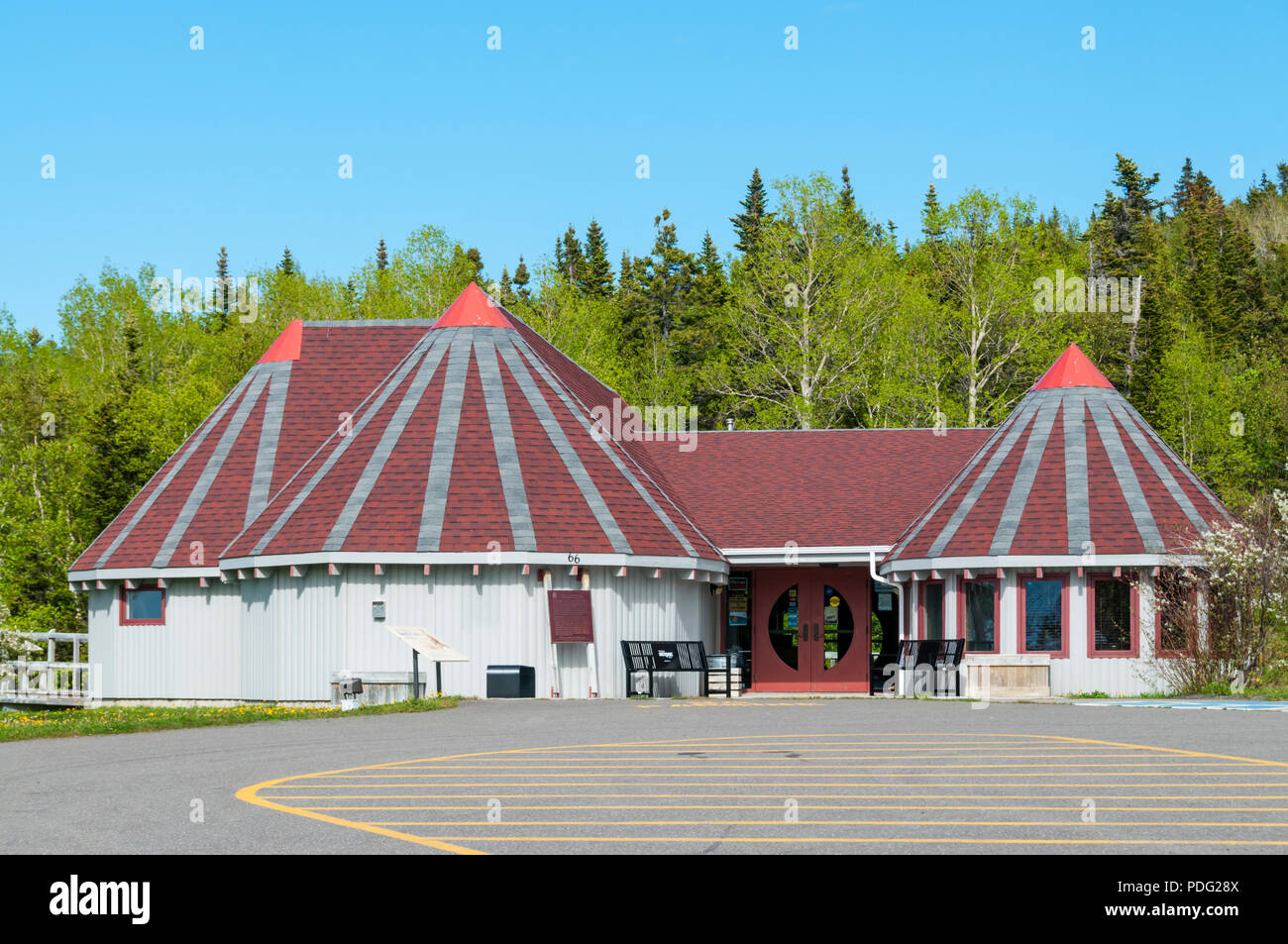 The Beothuk Interpretation Centre Provincial Historic Site at Boyd's Cove, Newfoundland. - Stock Image