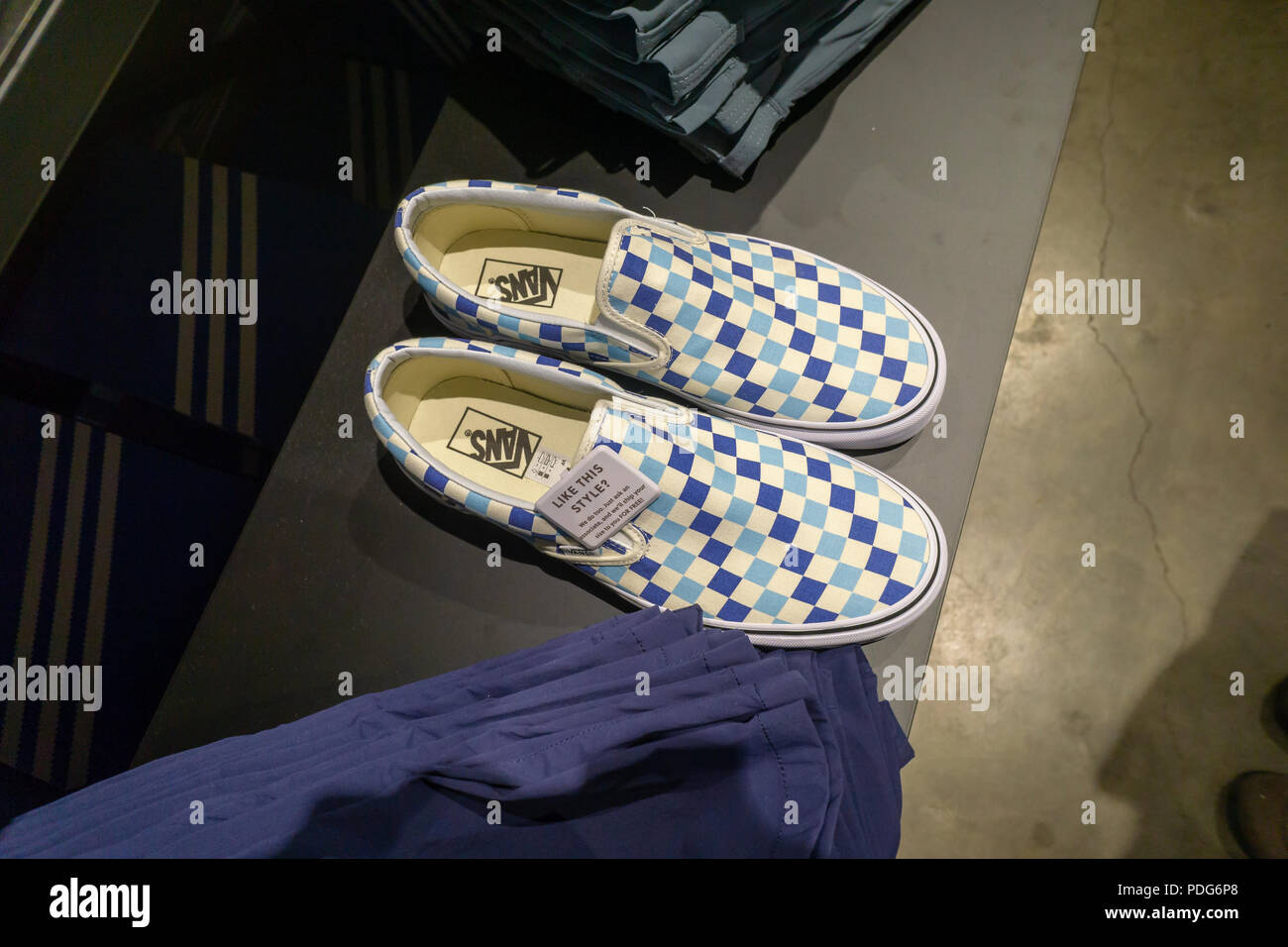 Vans brand sneakers on display the opening celebration of the new J. Crew  men s store in the Dumbo neighborhood of Brooklyn in New York on Wednesday 7fea6121ccc1