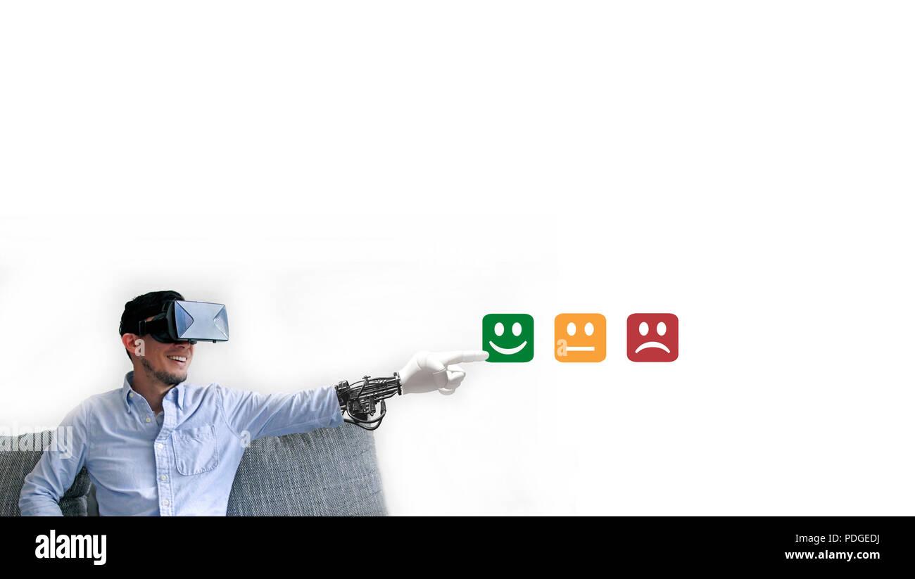 Technology and Customer Satisfaction - Stock Image