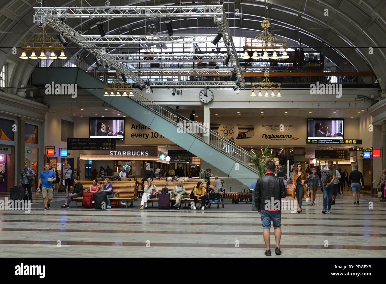 Stockholm Central Station, railway station. Interior - Stock Image