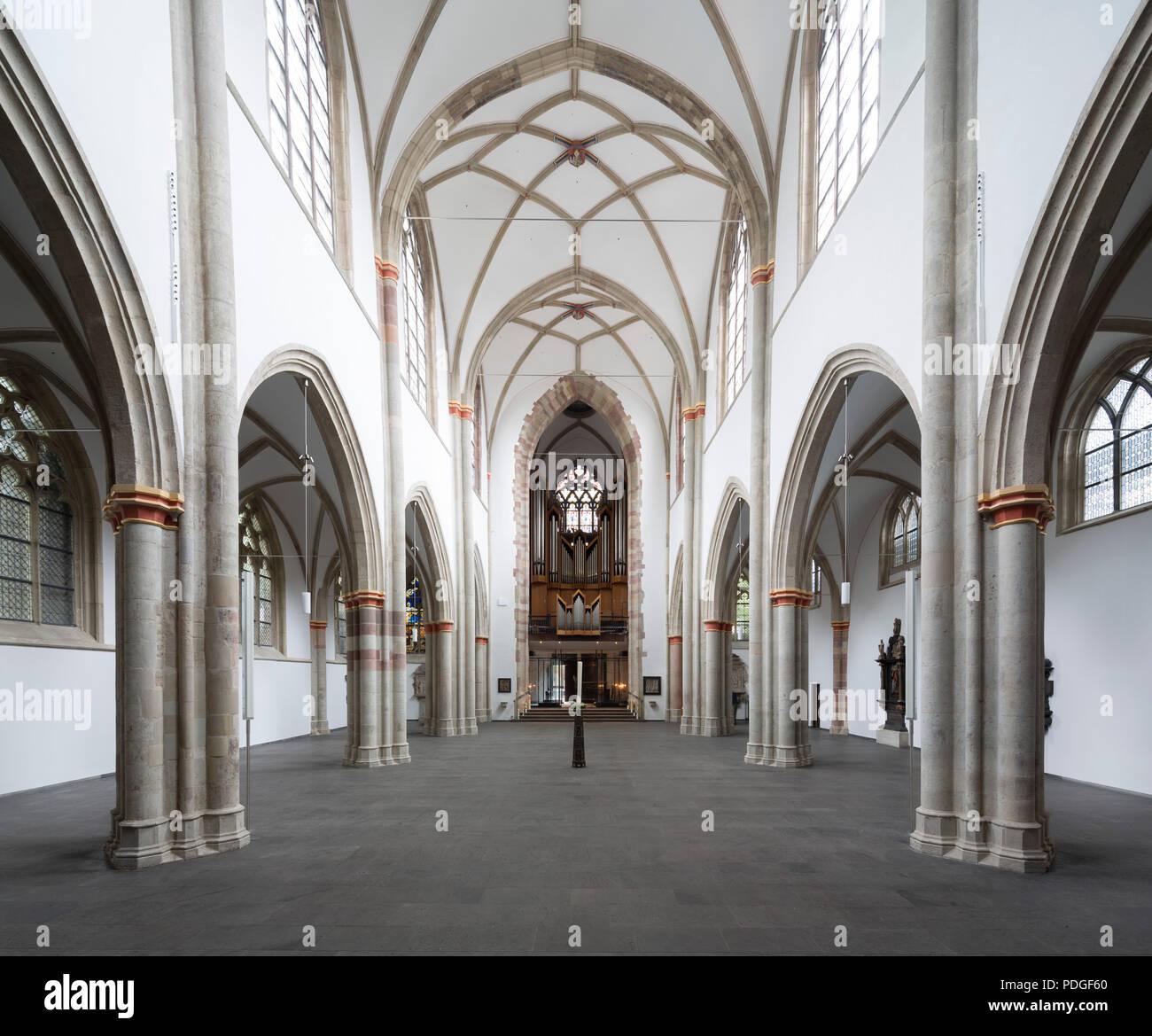 Nach der Renovierung ohne Kirchenbänke, Blick nach Westen - Stock Image