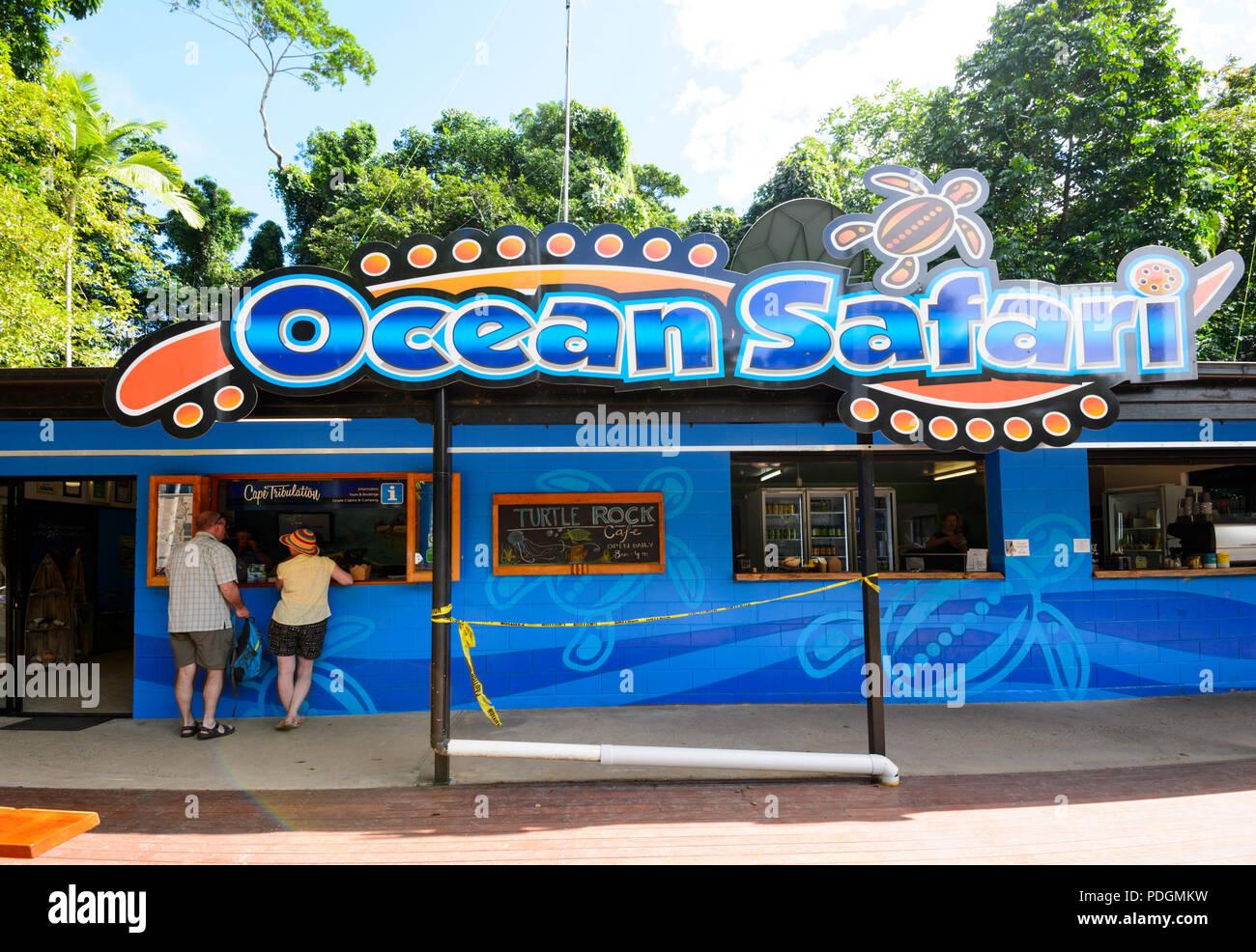 A couple of tourists at Ocean Safari Tours, Daintree National Park, Cape Tribulation, Far North Queensland, FNQ, QLD, Australia - Stock Image