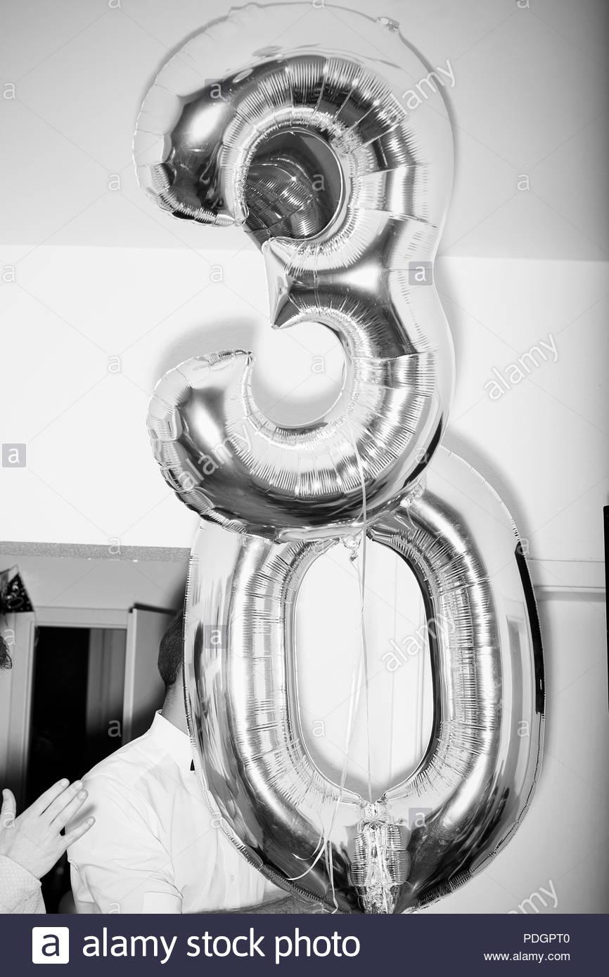 30er Geburtstag - Stock Image