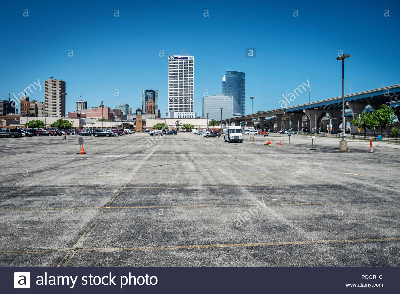 Parkplatz in Milwaukee - Stock Image