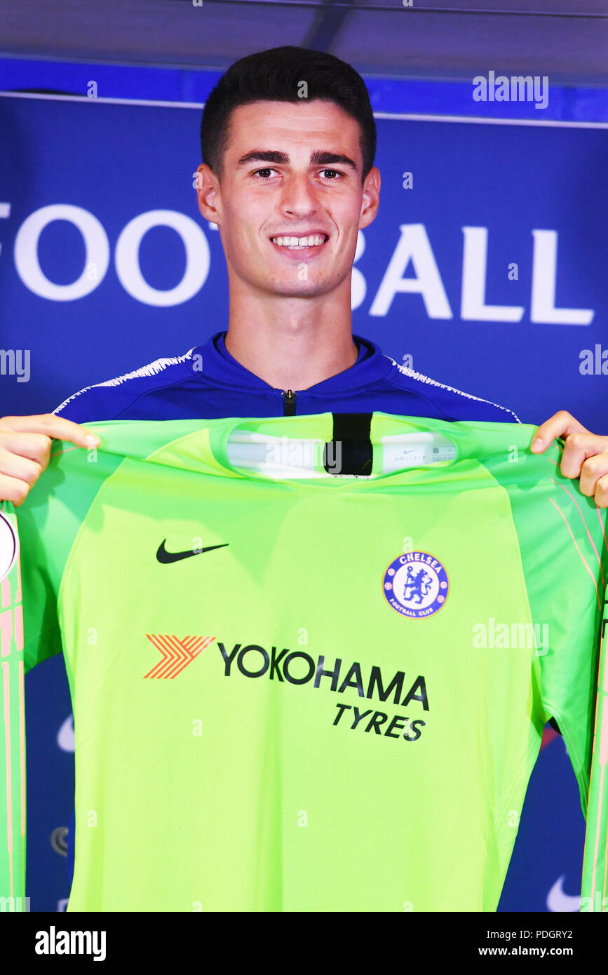 finest selection c709b 2d71a Chelsea goalkeeper Kepa Arrizabalaga during the press ...