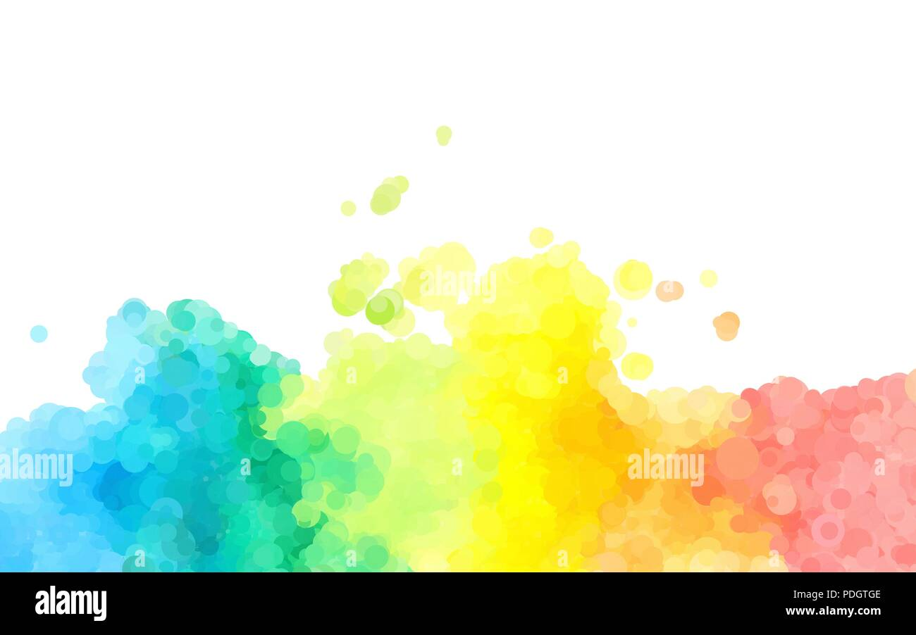 Abstract Colorful Watercolor Background Dotted Graphic