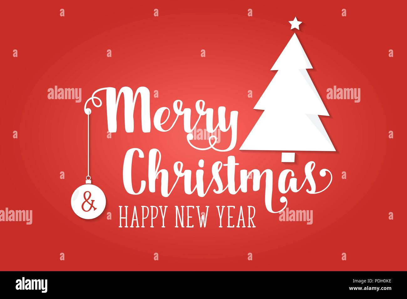 merry christmas greeting card vector illustration xmas design for