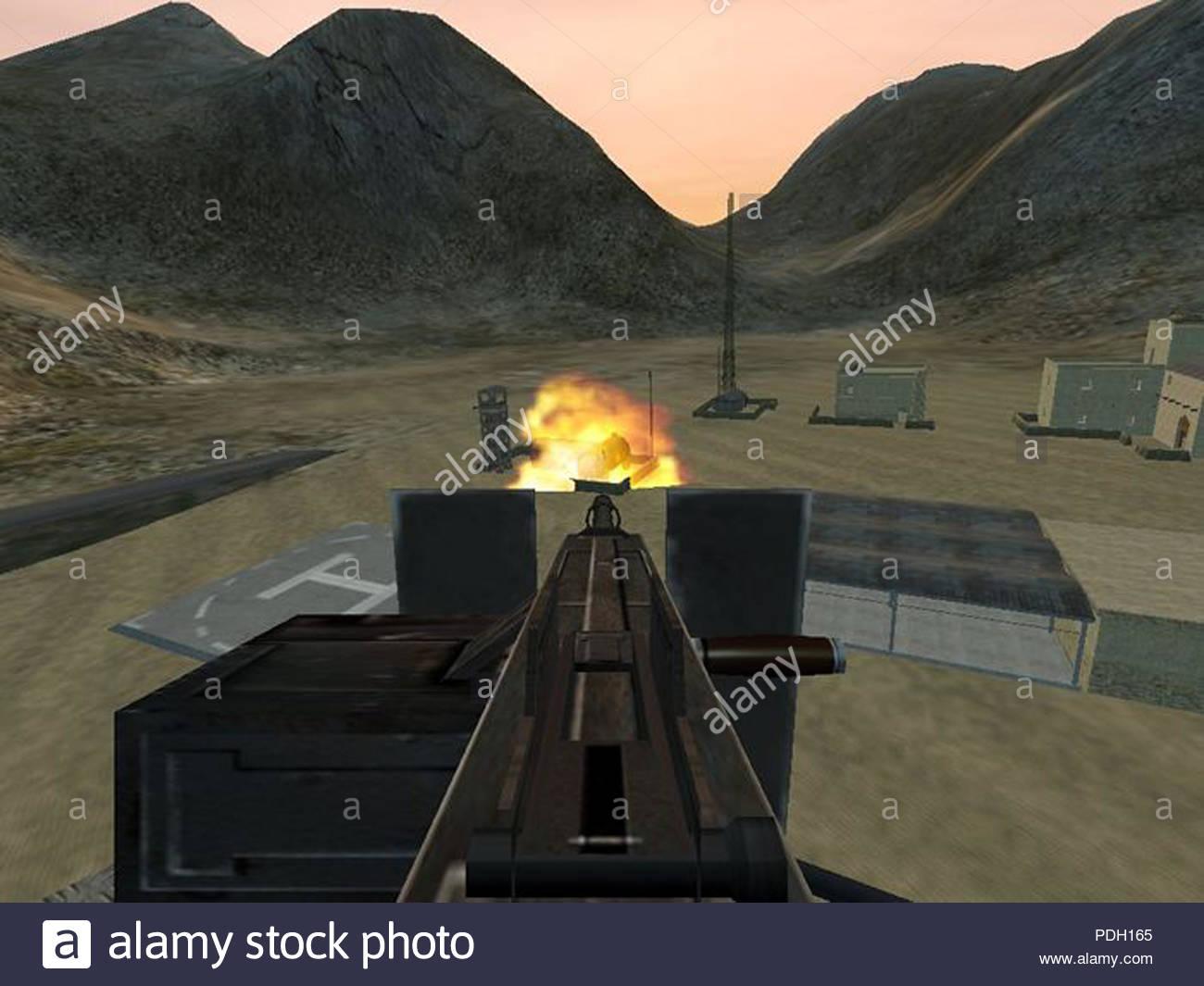 vintage game screenshot - Stock Image