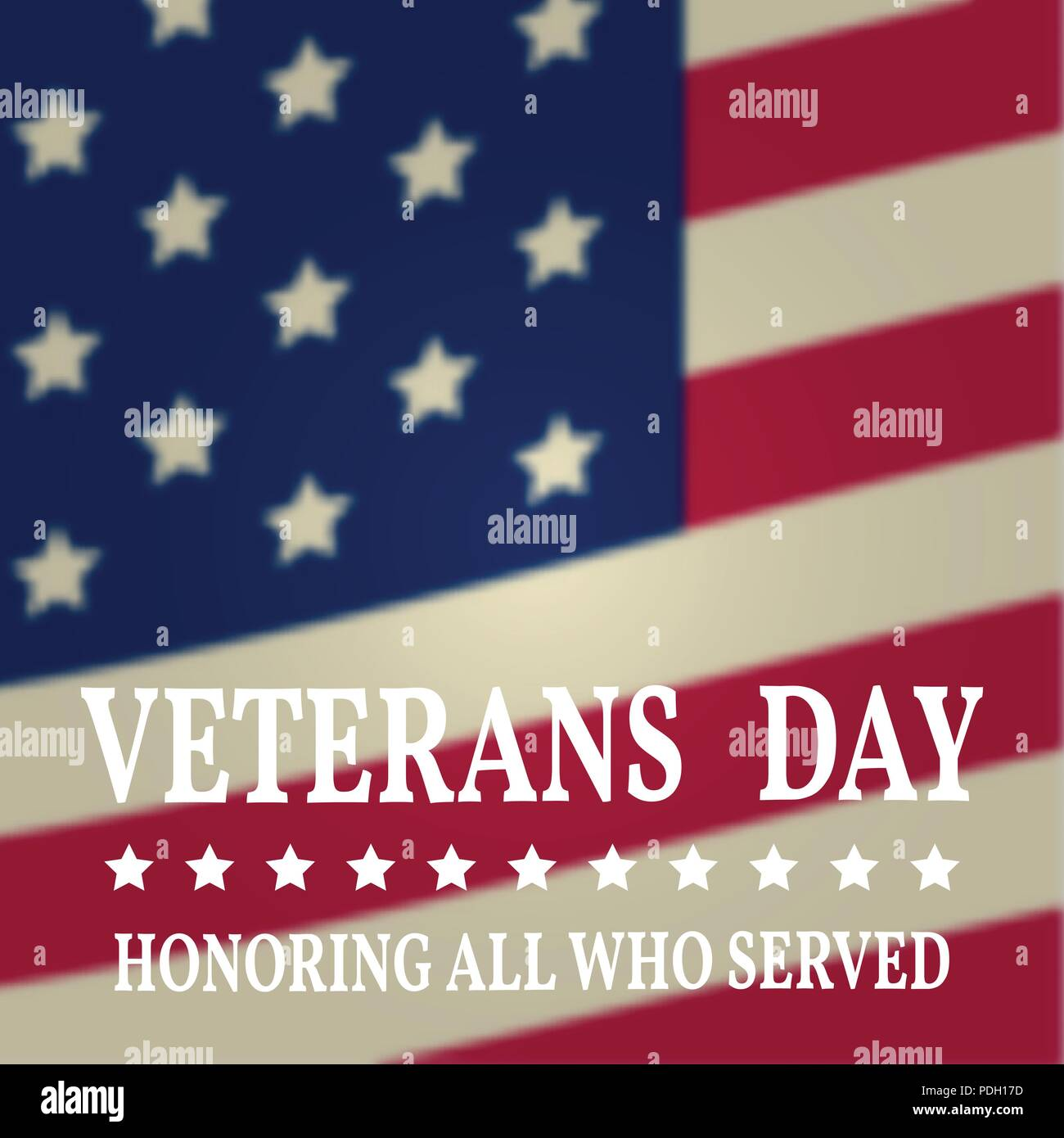 Veterans day greeting card honoring all who served typography veterans day greeting card honoring all who served typography design for veterans day stock vector m4hsunfo