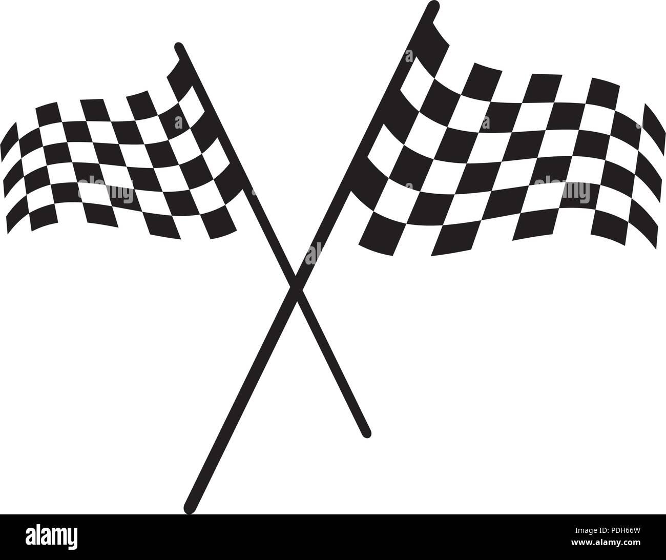 Race flag icon, simple design ...