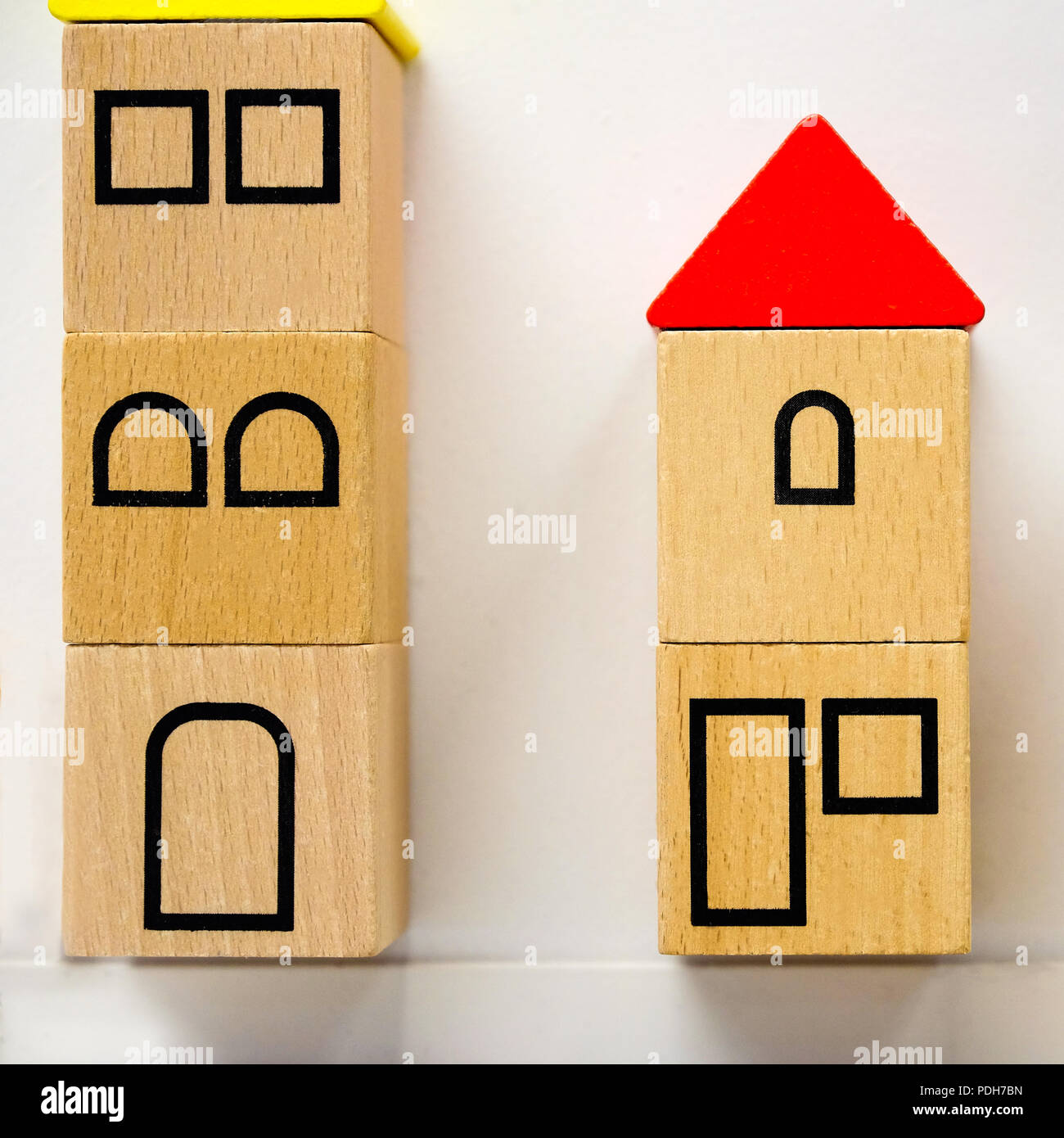 Fabulous Small Toy Houses Made Of Wooden Blocks With Painted Windows Home Interior And Landscaping Mentranervesignezvosmurscom