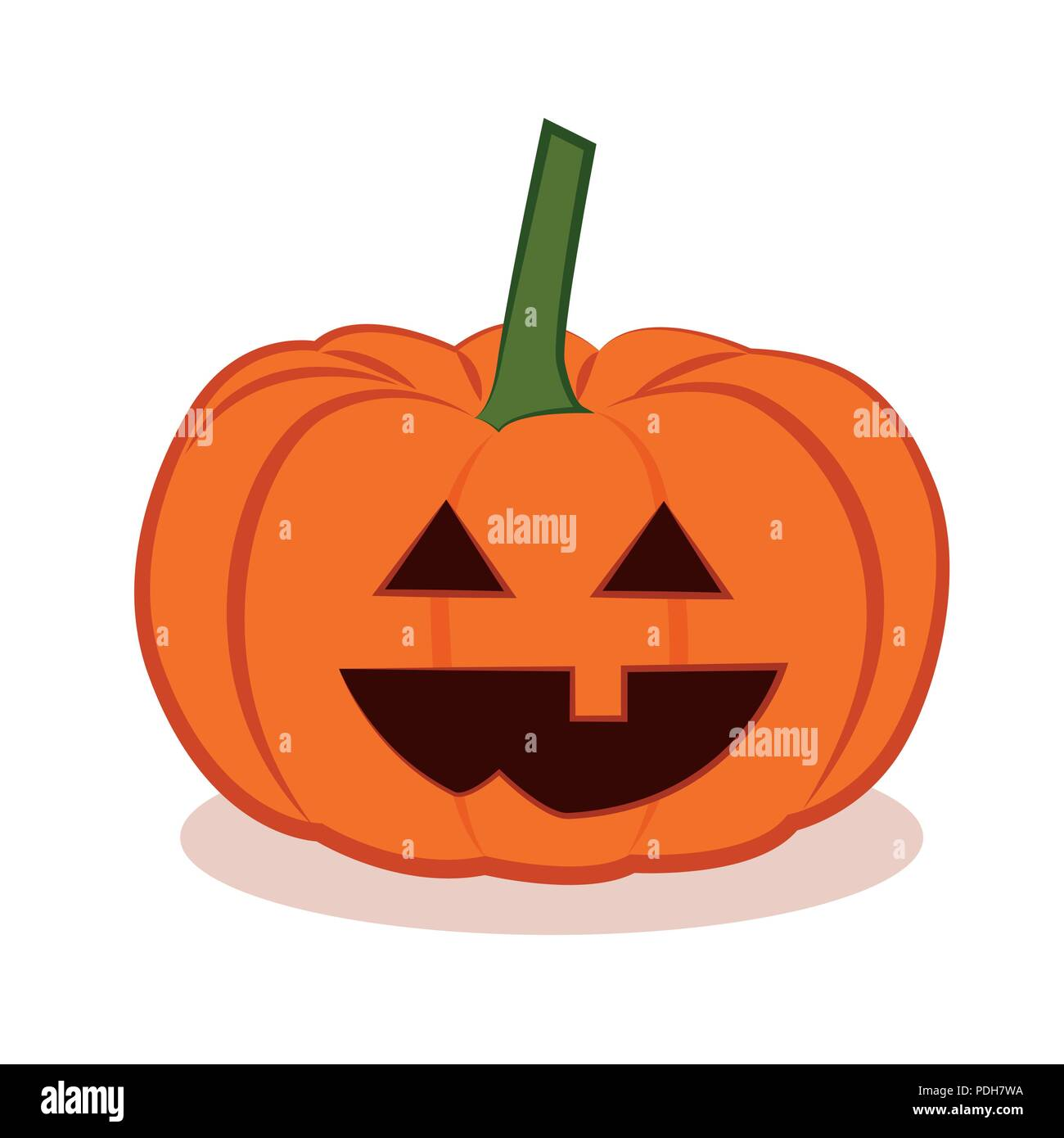 cute halloween pumpkins isolated on white background vector