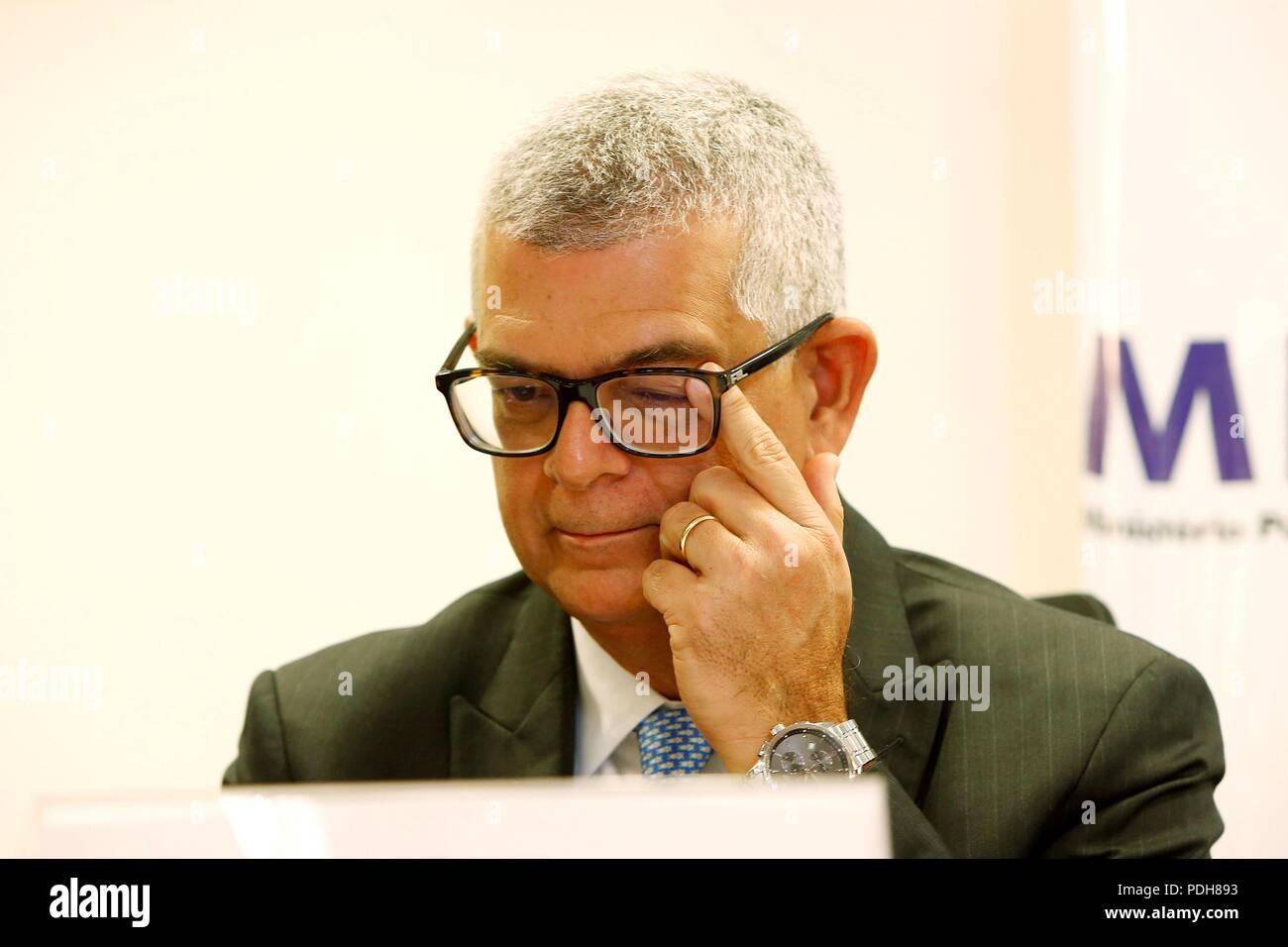 President of Petrobras, Ivan Monteiro, attends a resource-return