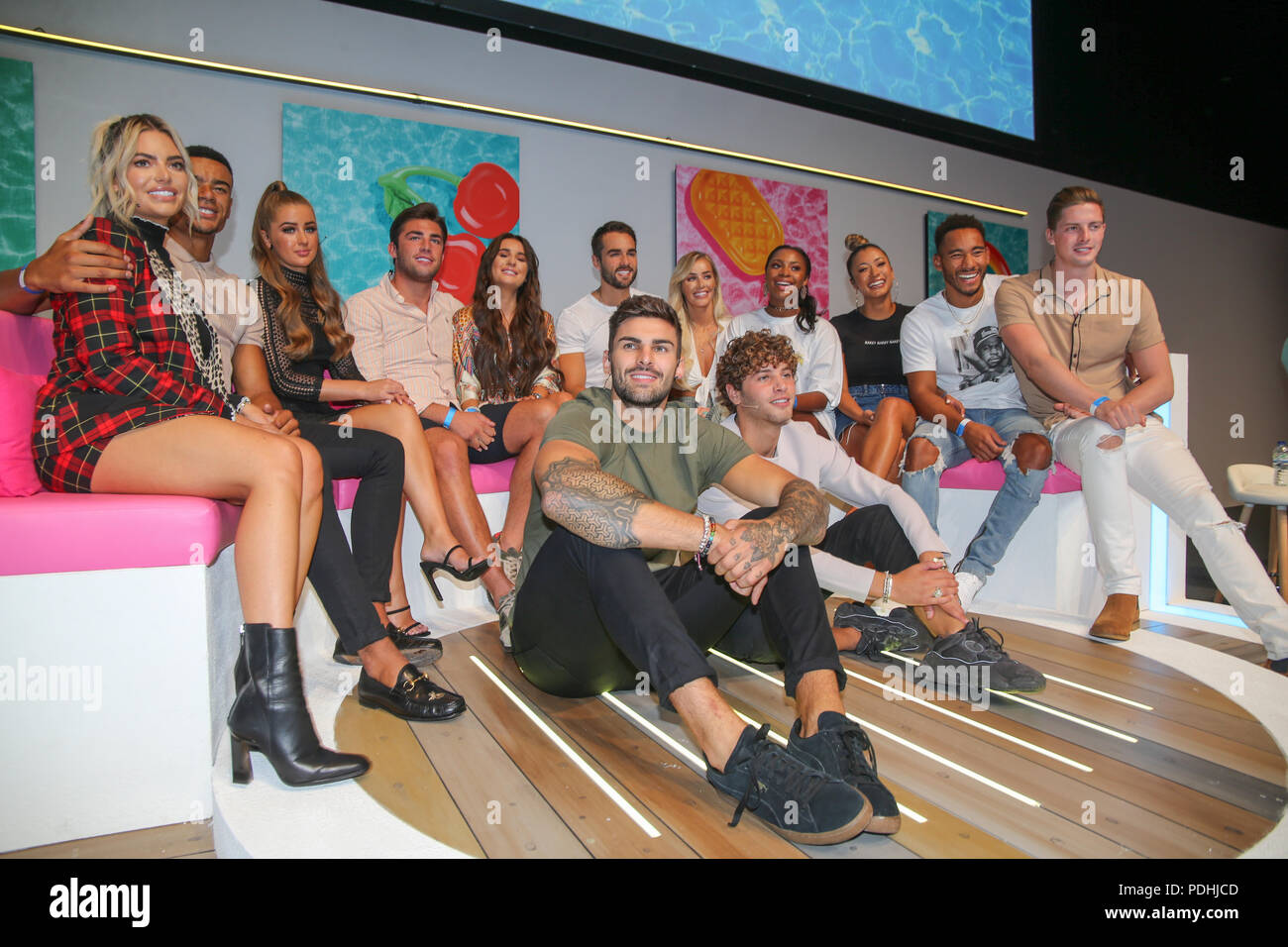 London uk 10 august 2018 the contestants of love island the most 2018 the contestants of love island the most talked about program this summer got together in the london excel for a live stage show and meet greet m4hsunfo