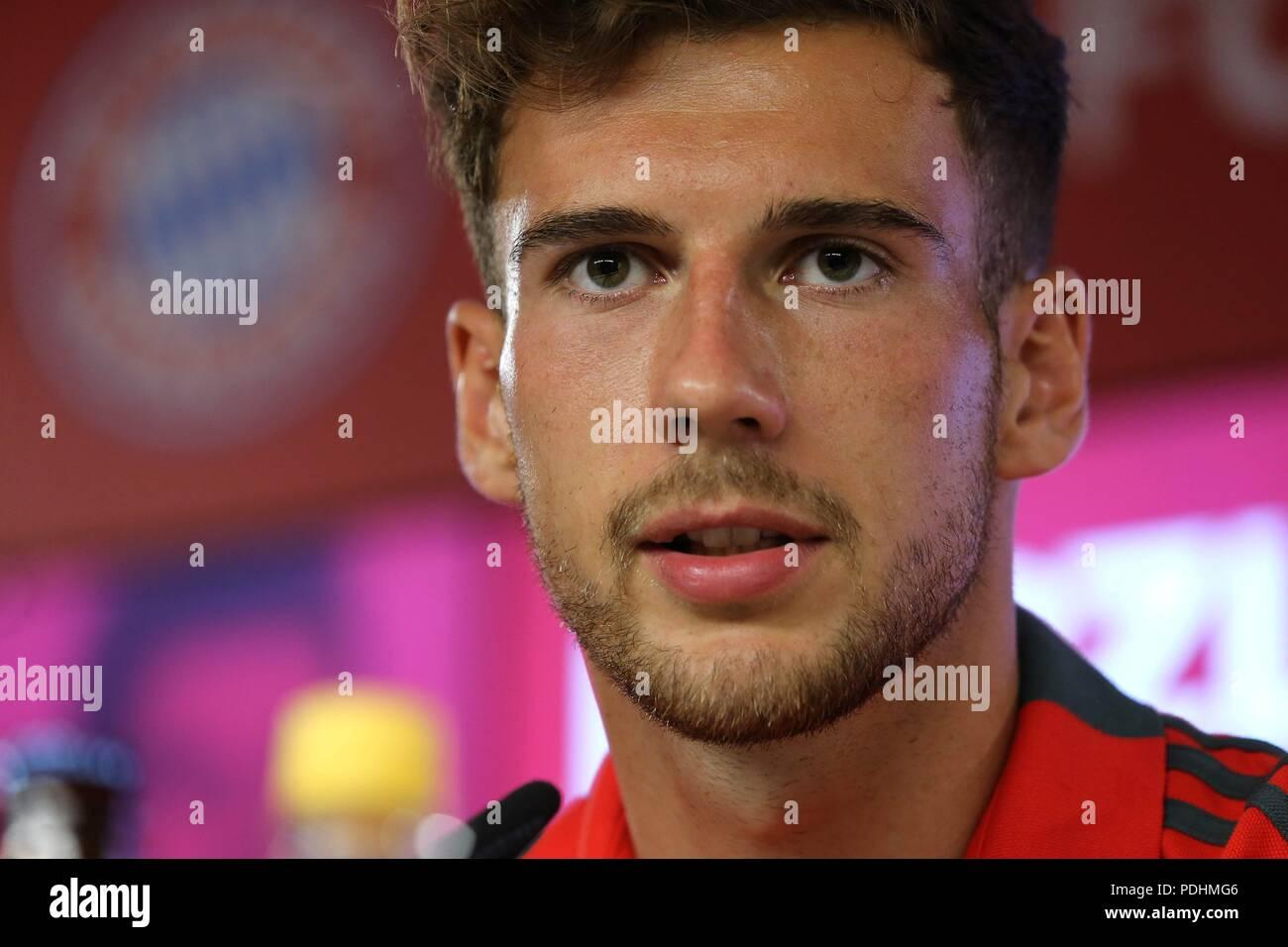 firo: 02.08.2018, Fuvuball, 1.Bundesliga, season 2018/2019, Official presentation Leon Goretzka, Leon Goretzka (FC Bayern) | usage worldwide Stock Photo