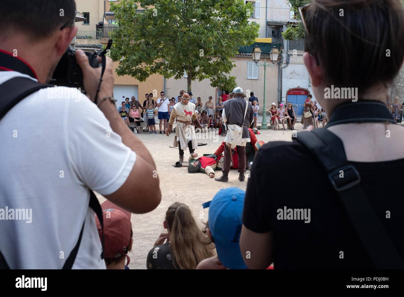 Medieval Festival in Saint-Cézaire-sur-Siagne, France Stock Photo