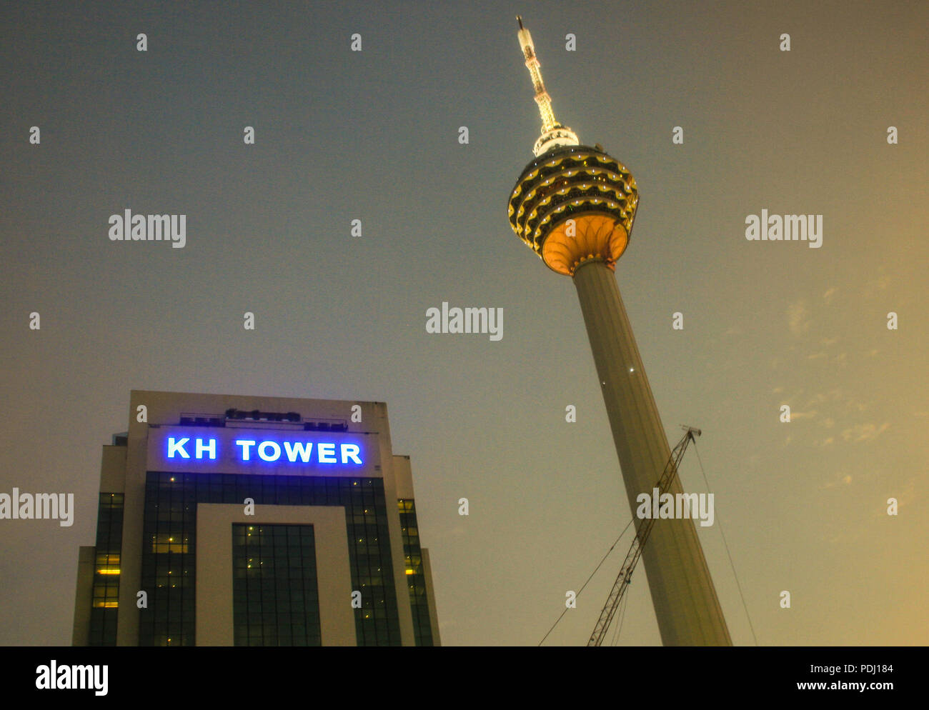 KL Menara tower, Kuala Lumpur City Centre, Malaysia - Stock Image