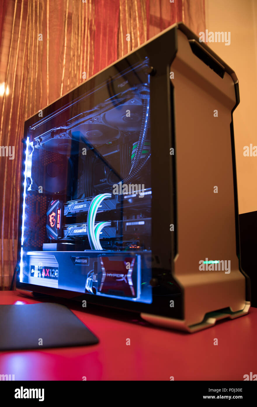 Watercooled Gaming PC Stock Photo 214912446