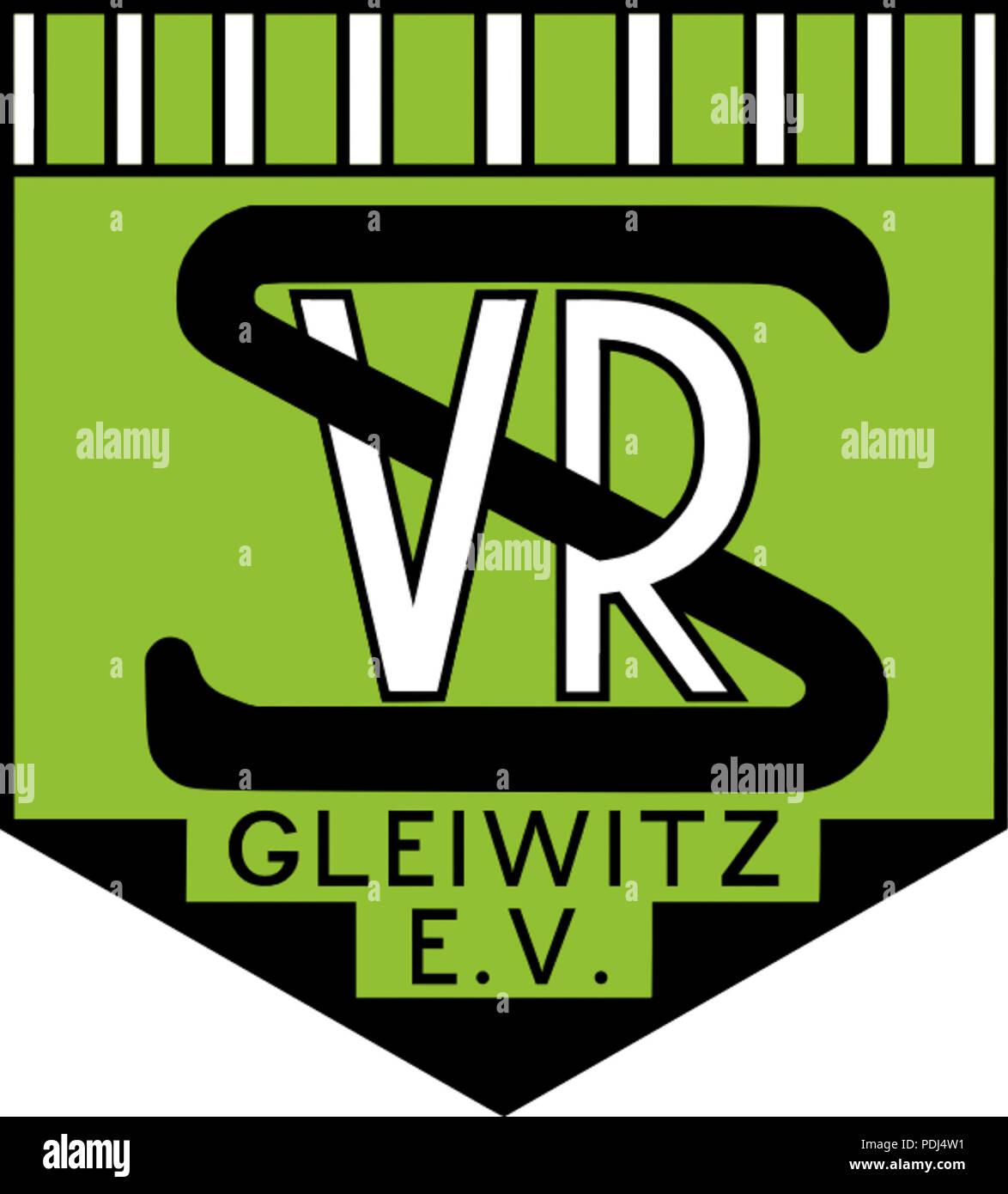 372 Vorwärts-Rasensport Gleiwitz- Altes Emblem Stock Photo