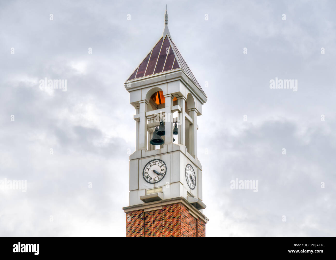 WEST LAFAYETTE, IN/USA - OCTOBER 22, 2017: Purdue Bell Tower on the campus of the Purdue University. - Stock Image