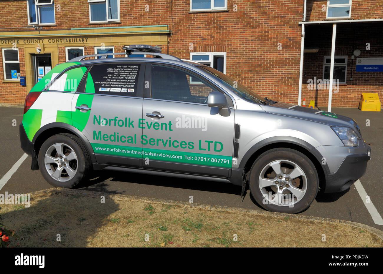 Norfolk Event, Medical Services, vehicle, emergency, service, Hunstanton, UK Stock Photo