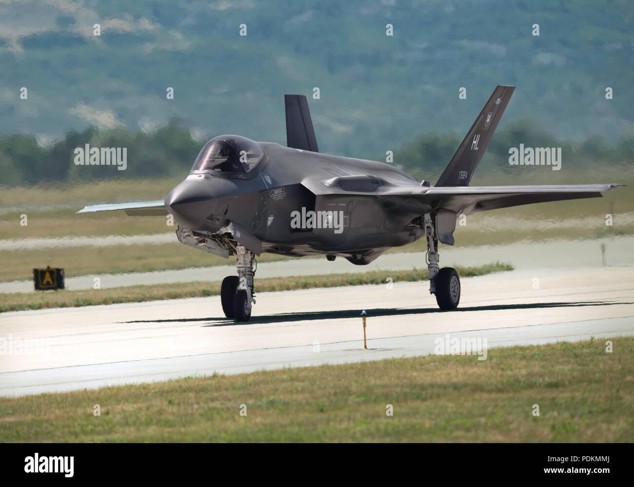 Lockheed F-35A Lightning II Taxi - Stock Image