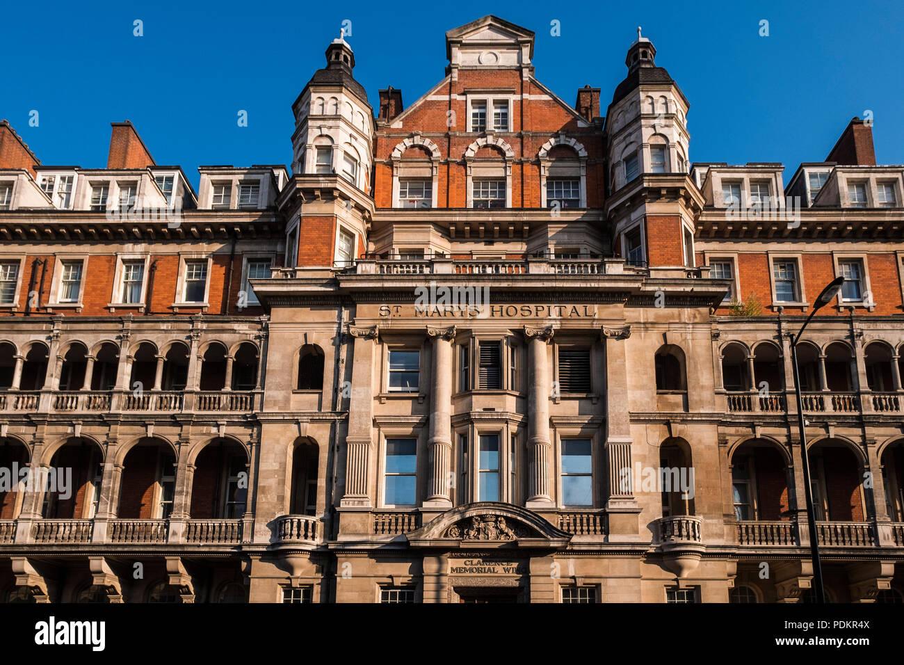 St. Mary's Hospital, Paddington, London, England, U.K. - Stock Image