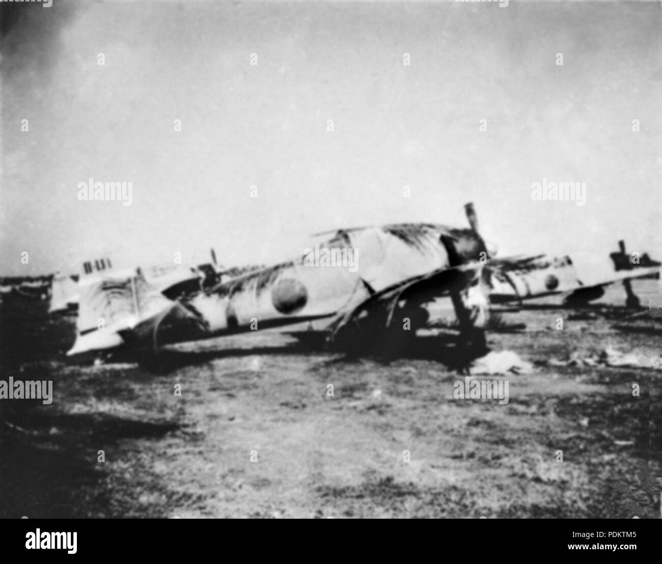 9 A6M2s at Kota Bharu airfield c1942 - Stock Image