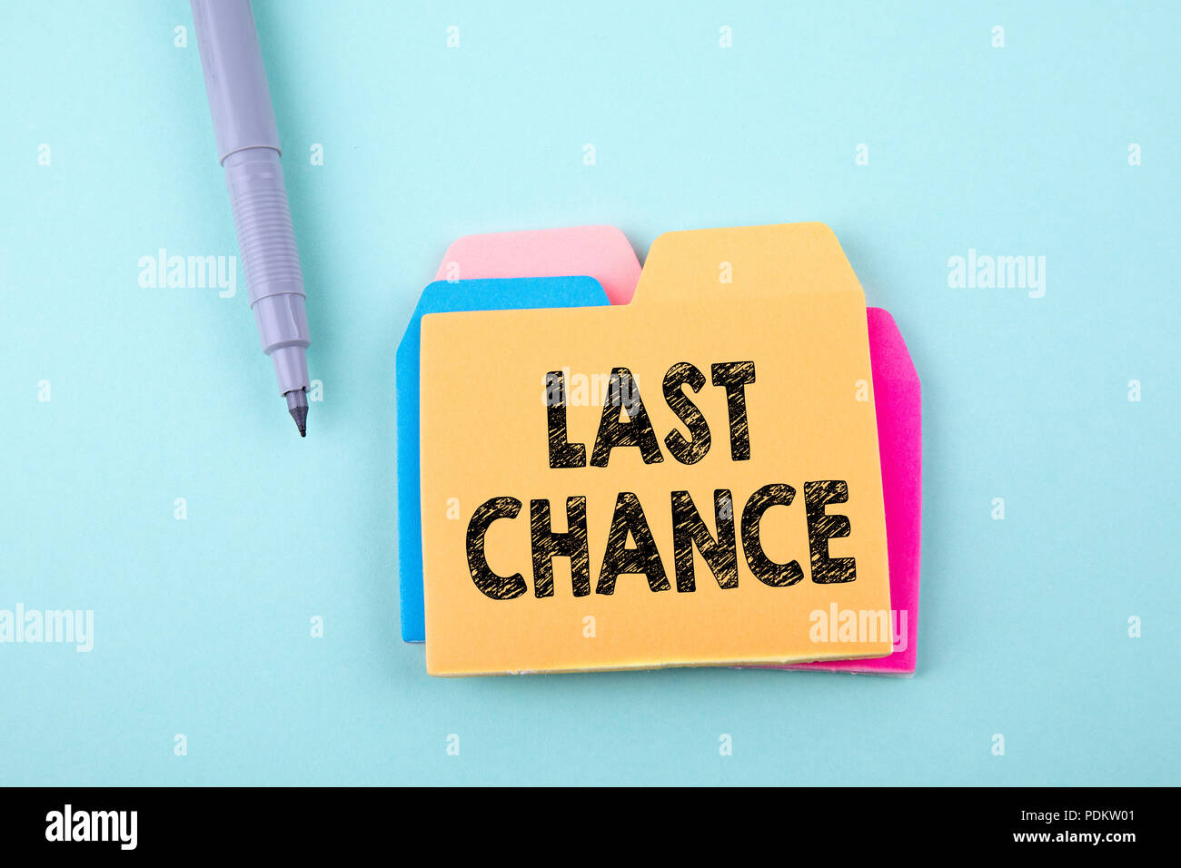 Last Chance, Business Concept - Stock Image