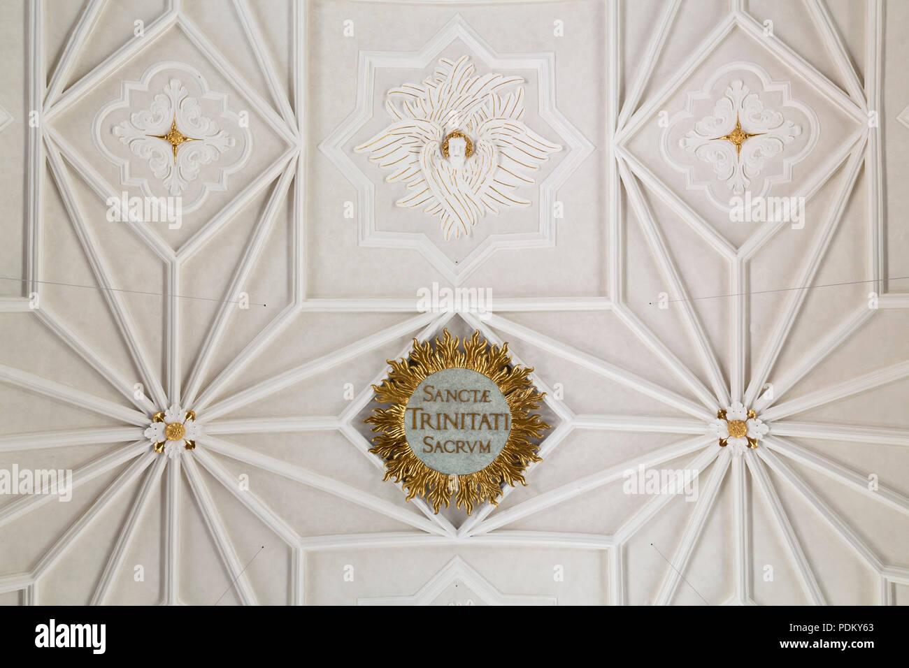 Gewölbe im Langhaus von Georg Vest - Stock Image