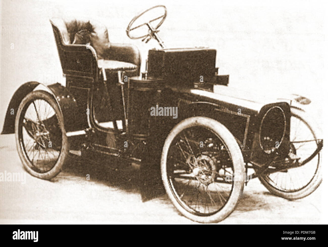 225 MHV Phoenix 6 hp Runabout 1906 - Stock Image