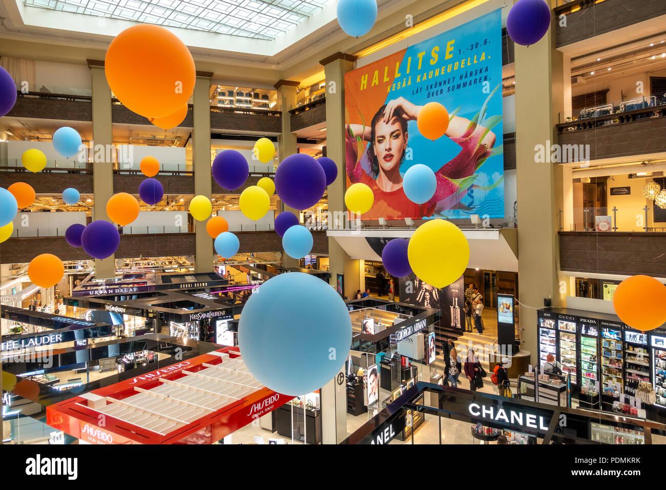 Stockmann department store interior Helsinki shopping - Stock Image
