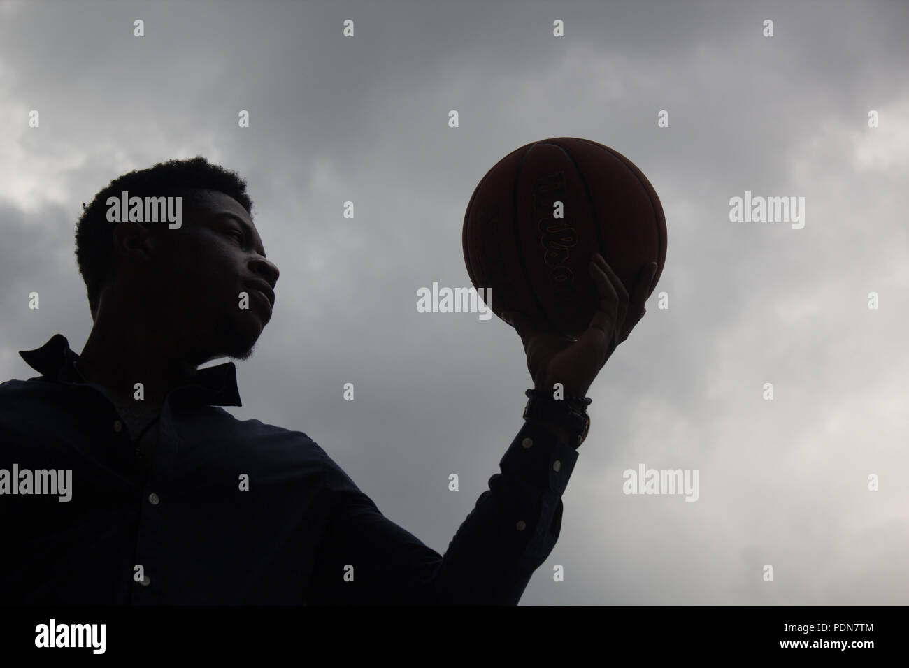 Young man starting life anew. Photos have a release. - Stock Image