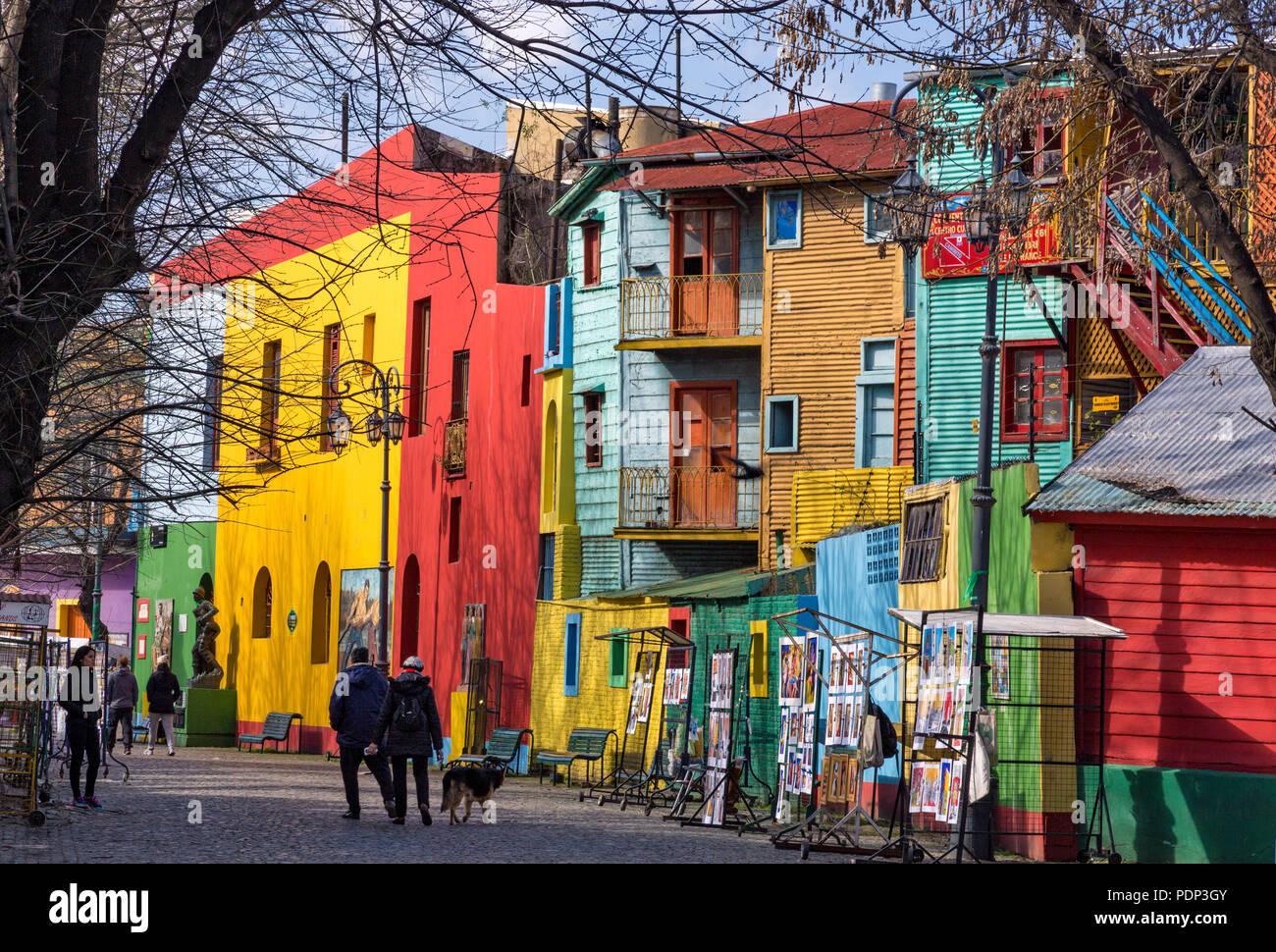 Caminito. La Boca, Buenos Aires, Argentina - Stock Image