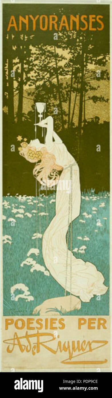 3 Anyoranses. Poesies per A de Riquer - Stock Image