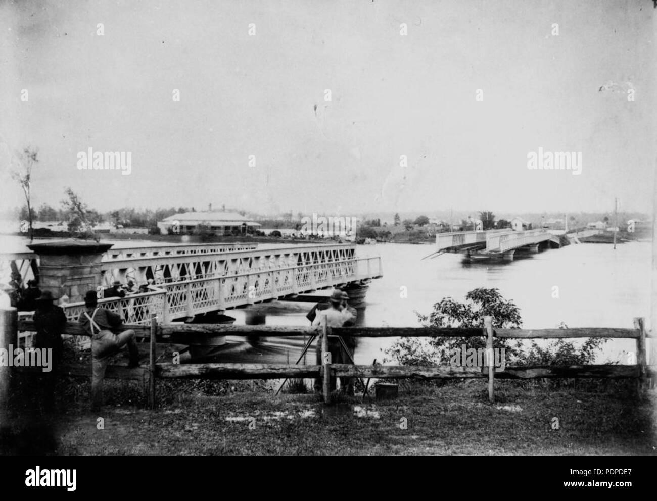 3 1893 Brisbane flood Indpilly Rw Br Stock Photo