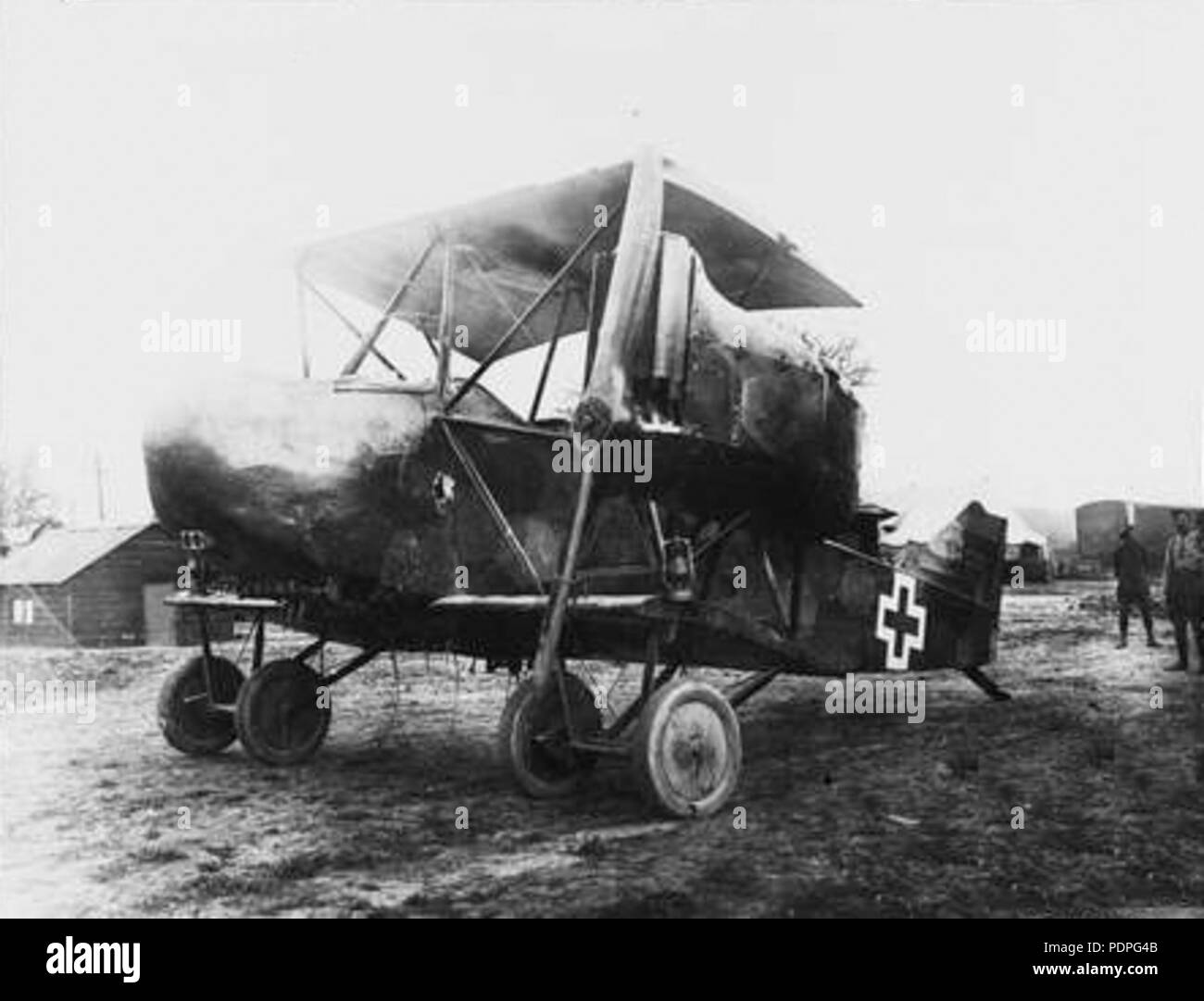 30 Captured AEG G.IV without wings in 1918 - Stock Image
