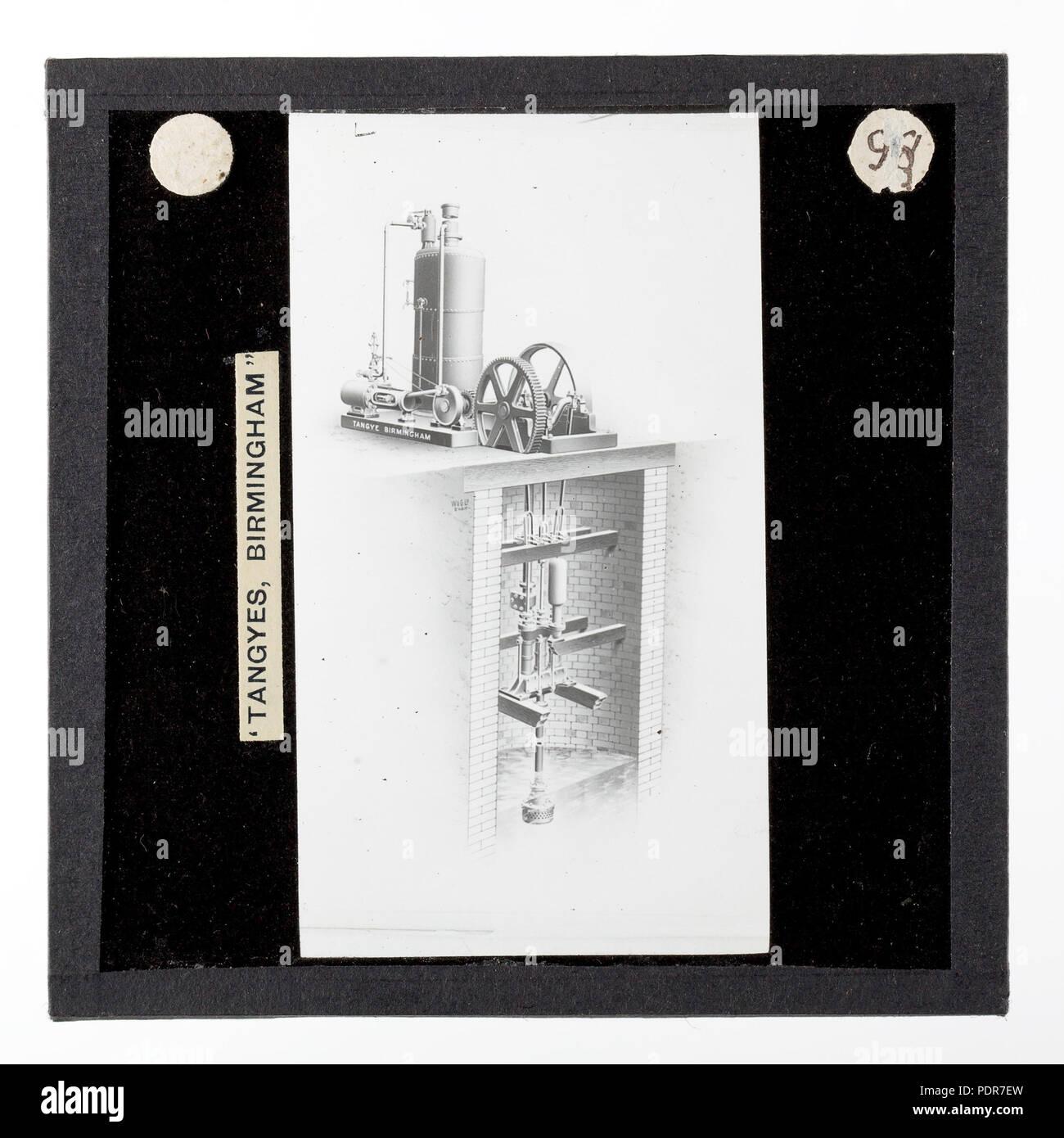 77 Lantern Slide - Tangyes Ltd, Horizontal Steam Engine, Vertical Steam  Boiler & Water Pump, circa 1910